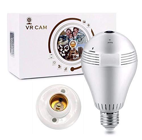Câmera IP Segurança Lâmpada Led 360 VR-V9-A VR Cam Panorâmica Espiã Wifi V380