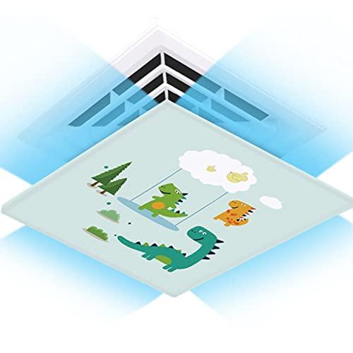 Aire acondicionado central, parabrisas de aire acondicionado universal, parabrisas de aire acondicionado, tela de seda de lona, fácil de instalar, lavable ( Color : Dinosaurs , Size : 45*45cm )