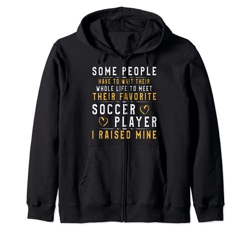 Soccer Player Dad Mom Shirt I Raised My Favorite Player Tee Zip Hoodie