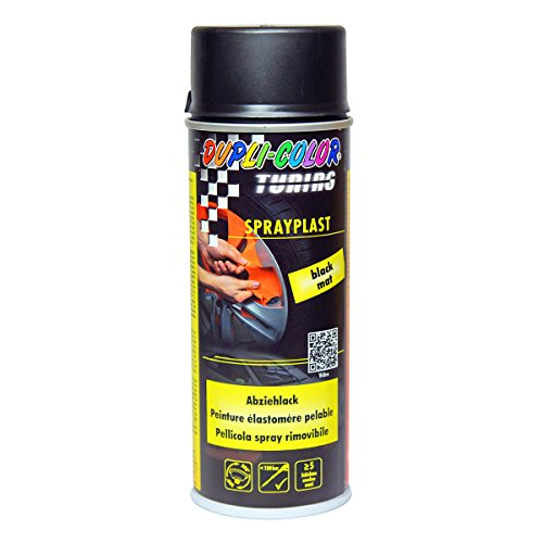 Dupli-Color 388033 Sprayplast schwarz matt 400 ml