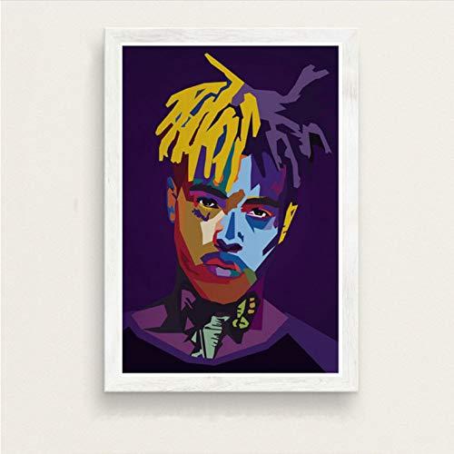 zpbzambm Quadri Tela 50X70Cm Senza Cornice,Wrld J Cole della Malone Lil Peep Xxxtentacion Juice Hot Rapper Star Hip Hop Art Pittura su Seta Canvas Poster Wall Home Decor Zp-1195