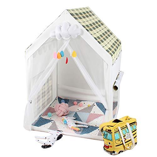 Niños Carpa Princesa Baby Tienda del Juego para Las niñas/niños Inicio Juguete de Interior y al Aire Libre Diversión Parque Infantil (Amarillo-Color Blanco)