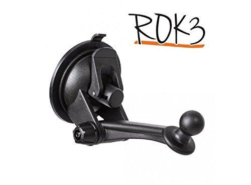 iBolt Rok 3 - Soporte de ventosa con disco de salpicadero de 80 mm, funciona con todos los soportes de muelle de coche y dispositivos GPS Garmin