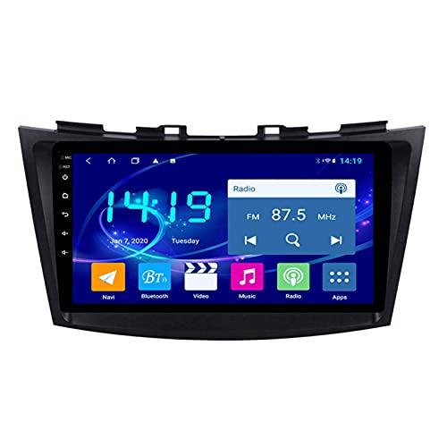 Gndy Car Stereo Android 9.1 Car Stereo GPS Navigation para Suzuki Swift 2010-2015 Pantalla Táctil De 9 Pulgadas Soporte WiFi 4.0 Bluetooth Control del Volante