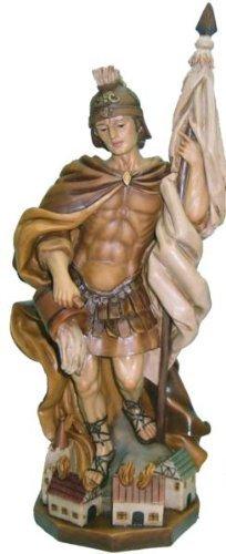 Heiligenfigur, Heiliger Florian, gebeizt, Höhe 35cm