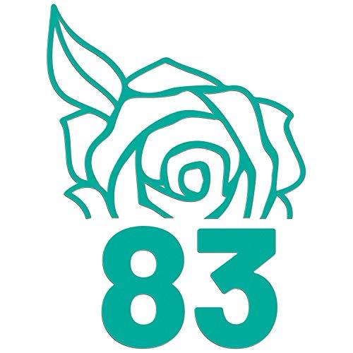 JasonCarlMorgan JCM Grafik Mülltonne auf Rollen Rose Aufkleber - Aqua Grün, 85mm