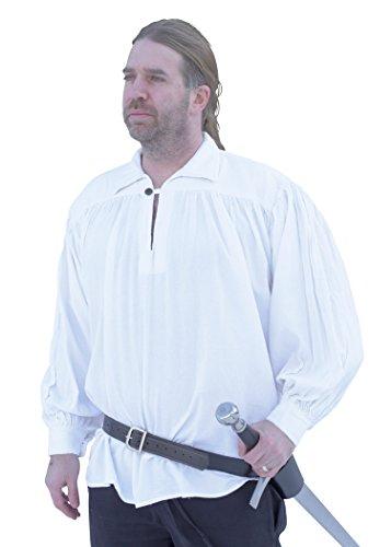 Battle-Merchant Ritterhemd, weiß - Mittelalter-Hemd LARP Größe XL