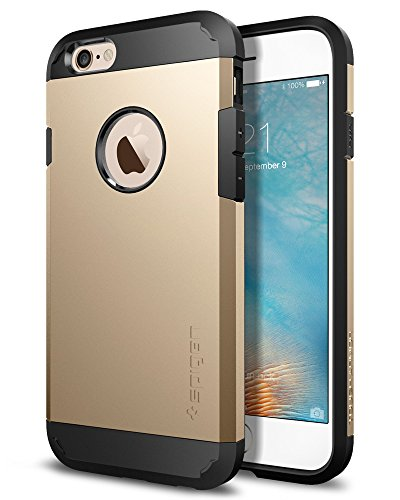 Spigen Tough Armor iPhone 6S Case with Extreme Heavy Duty Protection and Air Cushion Techonology for iPhone 6S / iPhone 6 - Champagne Gold