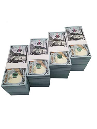 Movie Prop Money One Stack 100 Dollar Bills for Movie,Teaching,Viedio and Party