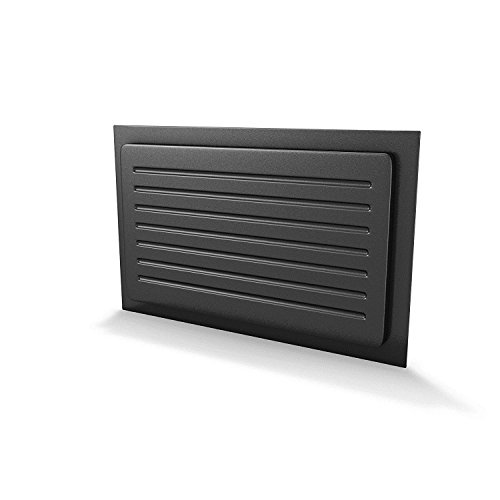 """Crawl Space Vent Cover Outward Mounted - Black (10""""x18"""")"""