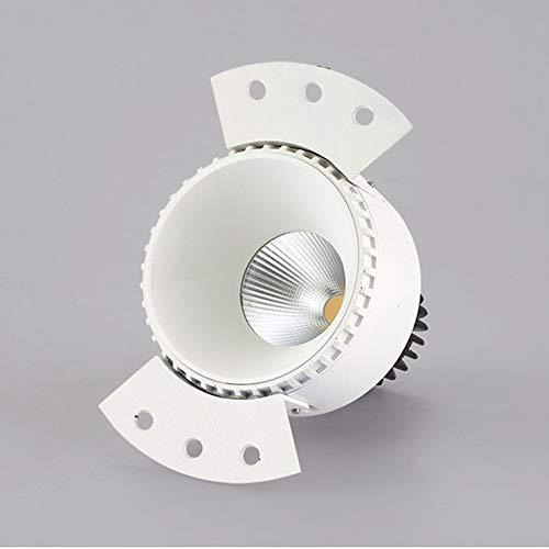 AOKARLIA Panel Downlight LED de Empotrar Lamparas Plafones Focos Downlight LED Empotrables Techo, Sin Parpadeo, No Regulable,Blanco,12W 5700K