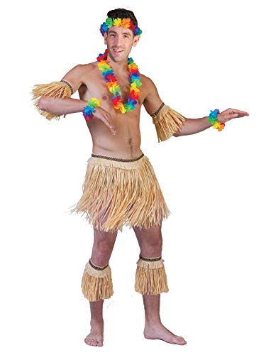 Funny Fashion Disfraz Conjunto Falda de Rafia Natural caníbal indígena Hawaiana Hawaii