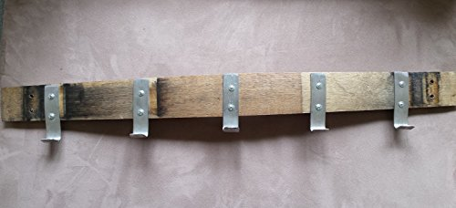 Rare Natural Coat And Hat Rack Made From Authentic Wine Barrel