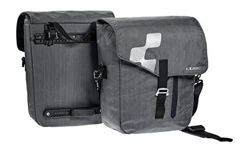 Cube City Fahrrad GepÀcktrÀger Taschen Set grau