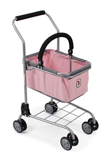 Bayer Chic 2000 761 15 Einkaufswagen für Kinder, Supermarktwagen Kaufladen-Zubehör, Melange grau-rosa