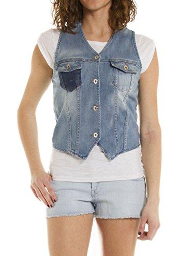 Carrera Jeans - Gilet Jeans per Donna, Tessuto Elasticizzato IT XS