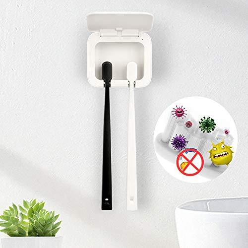 HWHSZ Zahnbürste Sterilisator Box, Anti-Bakterien Ultraviolett wiederaufladbare UV Zahnbürste Desinfektionsmittel Fall Zahnbürste Rack Badezimmer Organizer,Couple