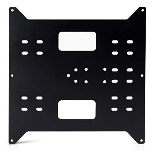 BCZAMD - Pannello riscaldante per stampante Mega i3 a Y, in alluminio anodizzato, con asse Y per duplicatore Mega i3   Wanhao i3   Maker Select, colore: nero