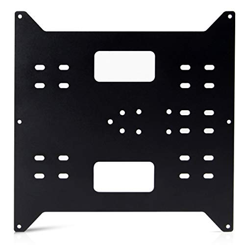 BCZAMD Wanhao i3 Aluminum Y Carriage Multifunction Anodized Plate Heat Bed Accessories Compatible with Monoprice Maker Select/Wanhao Duplicator i3/ Anycubic Mega 3D Printer-Black