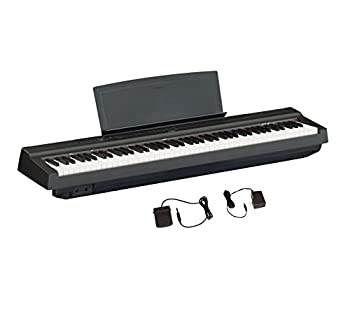 YAMAHA P125 88-Key Weighted Action Digital Piano with Power Supply and Sustain Pedal Black