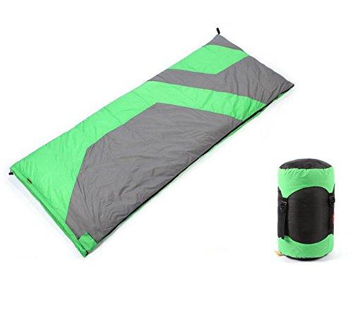 Z&HX sportsOutdoor Envelope Ultra Light Down Sleeping Bag Adulte Automne Hiver Camping Sleeping Bag, Green