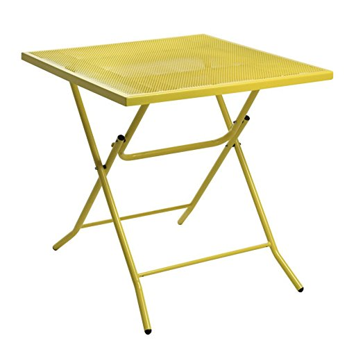 Garden Table in Iron Color Yellow