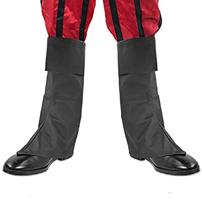 Skeleteen Faux Leather Costume Boots - Knee High Over the Shoe Black Pirate Boots Accessories for Costumes by Skeleteen