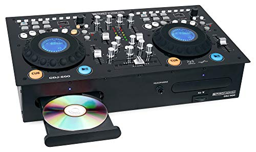 Pronomic CDJ-500 Full-Station Doppel DJ CD-Player (Standalone-Format, Phone/Line-Eingänge, CD, MP3 CD, SD & USB, Crossfader)