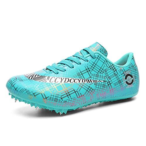 MYYU 8 Clavos Spikes Zapatos Atletismo Zapatos Hombre De Atletismo Ligero Seguro De Usar Clavos Zapatillas De Deporte Masculino En Forma Hombres Libre Corriendo Competencia,Azul,45EU/10.5US