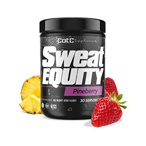 Sweat Equity Premium Pre Workout Supplement | Pineberry | 30 Servings | Gluten Free | Sugar Free