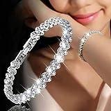 Branets Crystal Bracelet chaîne en argent à la main avec strass Accessoires pour femmes et filles