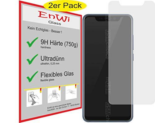 EnWi | 2X Panzer-Glas-Folie 9H Bildschirm-Schutz-Folie für ZTE Axon 9 Pro