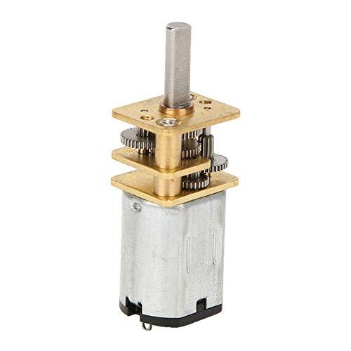 Reductor de velocidad del motorreductor, con caja de engranajes de metal GA12-N20 DC 12V 60/500/1000RPM Motorreductor Motor de reducción de velocidad DC(60 rpm)