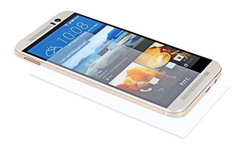 Classy Hülles Tempered Glass Bildschirm-Schutz, Bildschirm-Schutzfolie aus gehärtetem Glas passend für HTC one M9 (Modell 2015), Schutz-Glas 0,33 mm dünn, Bildschirm-Folie aus Hartglas, abger&ete Kanten