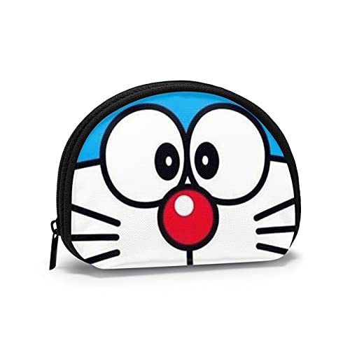 Doraemon Kawaii japonés lindo llavero bolsa con cremallera dinero chang bolsa mini concha en forma de cartera para mujeres y niñas
