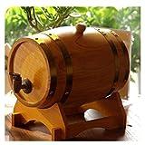 Barril de Roble Toneles para vino Barril de Madera 10L Barril de roble, Barril de roble de madera vintage for la vinificación o Almacenamiento Cerveza Whisky Ron, Apto for bares (Color : Yellow)