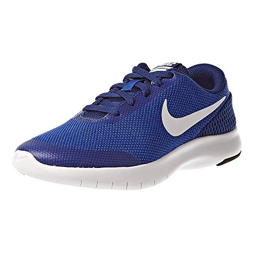 Nike Boy's Flex Experience RN 7 (GS) Running Shoes (7 M US Big Kid, Hyper Royal/White)