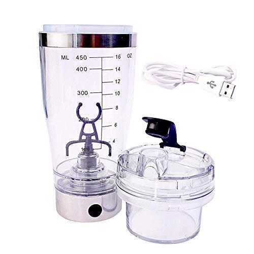 Wintesty Tragbarer Elektrischer Shaker Elektrische Rührbecher Automatisches Rühren Milchshake Kaffee mit USB Lade Acrylglas Mixer Flasche für Proteinpulver/Shakes expert Comfortable