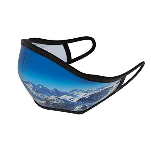Soggle Community Maske, bei 60 Grad waschbar, Wendedesign, Microfaser, Farbe:Mountains & Powder