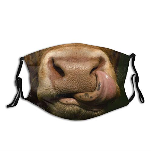 Funny Cow Face Mask, Comfortable Funny Animal Balaclava For Adults, Adjustable For Windproof & Warmth.