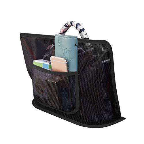 Car Net Pocket - Organizador de malla para bolso, organizador de respaldo de asiento de coche, monedero, teléfono, documentos, barrera para asiento trasero de mascotas
