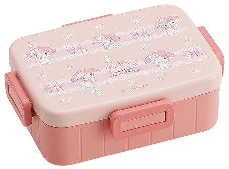 Patineur 4 points Lock Box,Boîtes bento 650ml Sanrio Ma Mélodie Margaret YZFL7