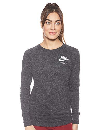 Nike Sportsware Gym Vintage Crew Camiseta de Manga Larga, Mujer, Negro (Black/Sail), M
