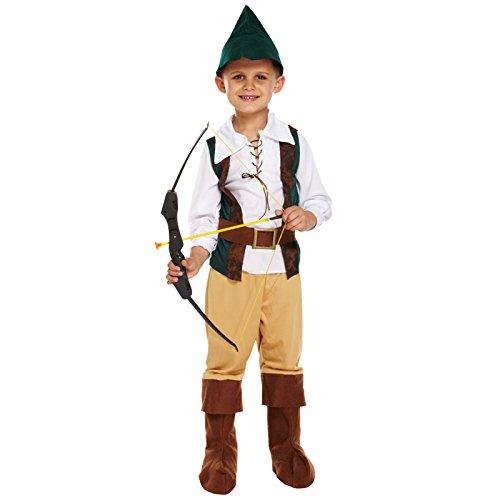 HENBRANDT Costume da Cacciatore per Bambini di Medie Dimensioni età 7 - 9 Anni