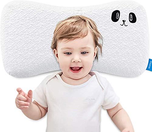 NOFFA Memory-Schaum-Kissen für Kinder, Kleinkind-Kissen Cervical, flaches Schlafkissen für Kinder mit waschbarem Bezug (2-8 Jahre)