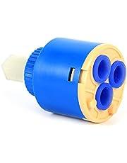 GLOGLOW 35/40 mm Práctico cartucho de cerámica válvula de disco válvula de grifo filtro de agua caliente y frío mezclador Tapa interior controlador