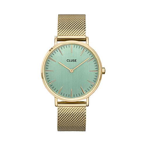 Cluse Damen-Armbanduhr CW0101201027 goldfarbenes Mesh-Armband