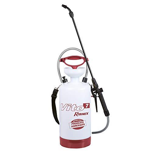 Ribimex PRP070PC Nebulizzatore Aggressivi Vito, 7 l, Bianco/Rosso, 6,85 L