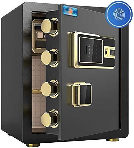 CAOYUYMX feuersicheren Tresor Digital-Safe, großer Schrank Safe, eingebauter Alarm Wand, Dateien for Notebooks Schmuck Home-Office-Hotel verfügt über 38 * 32 * 45cm Safe (Color : Black)