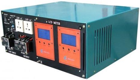 wccsolar.es Inverter 10000W LF Inversor De Onda Pura del Seno LCD+Cargador 200A 24V/48V A 230V (10000W 48V)